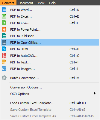 How to convert pdf to odt with pdf converter elite - Open office convert to word ...